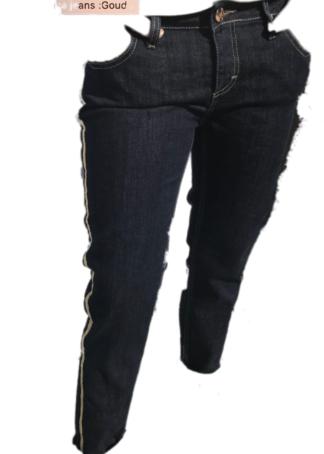 H20 Italia jeansbroek Danica met gouden lint opzij