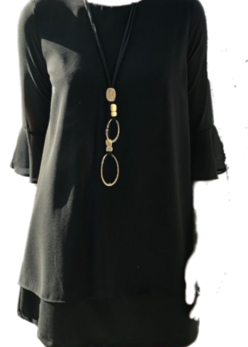 Xtsy Kleedje met open rug W641 : Black