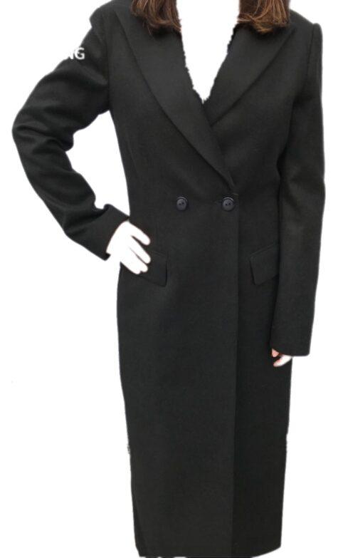 H20 Lange Mantel Conny zwart