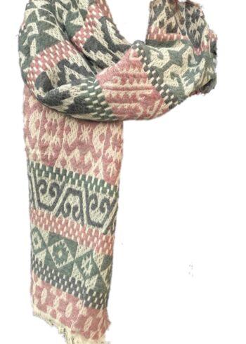 H20 Sjaal Roos/grijs/beige