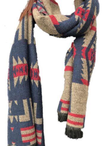 H20 Sjaal Rood/Blauw