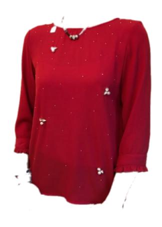 Everis Zoboli Feestelijke bloes rood