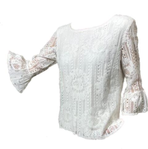 Punto kanten bloes Bamindi White - White