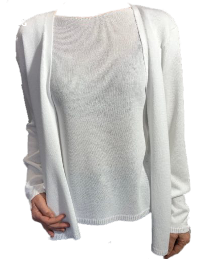 One Cardigan Windsor White  geweven