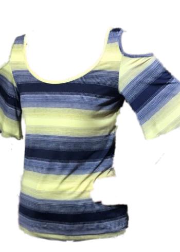 Batida T-Shirt 7057 Yellow stripe