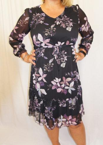 Zaps jurk Colibra 004 Black met print