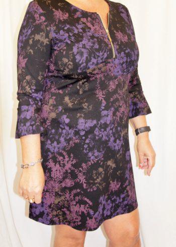 Zaps jurk Lansa 004 Black met print