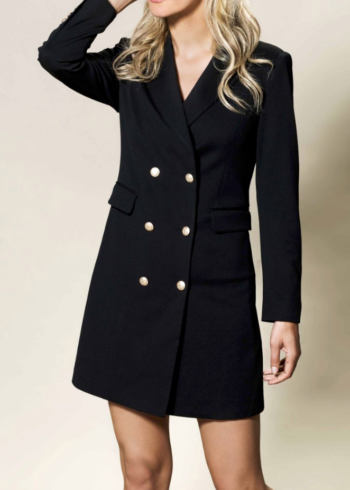 K-Design jurk M605 Black blazer look