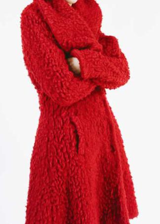 Enolah Teddy mantel Maglie Horizon Red