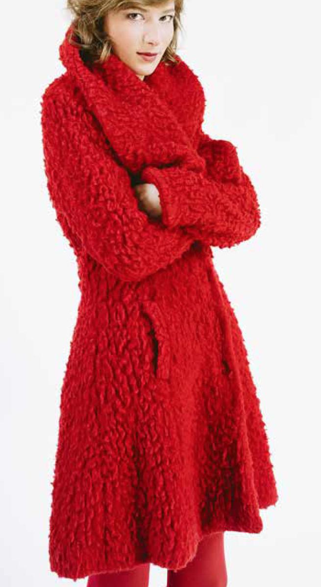 Korte teddy mantel
