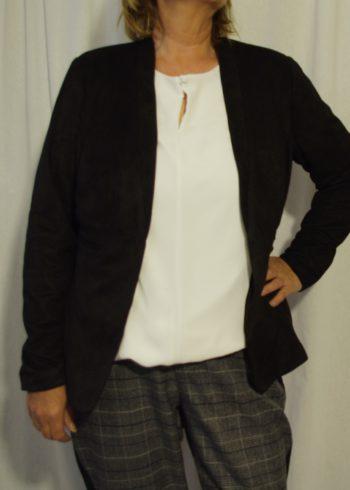 Zoey fluweel zwarte Blazer Brigitte 181