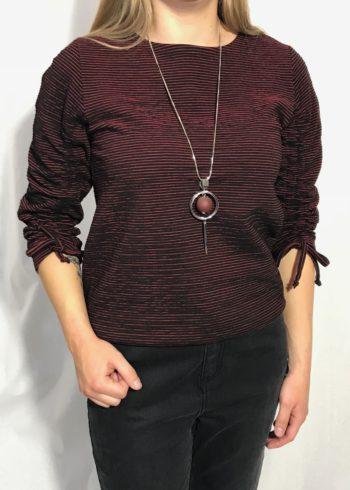 CKS Bloes Dhalia Zwart/rood gestreept