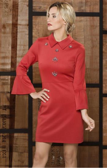 K-Design jurk M204 Red
