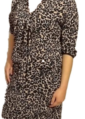 CKS Roze jurk met tijgerprint Narola