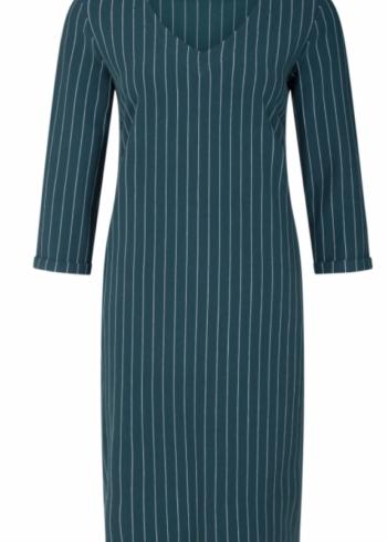 CKS jurk Emilia , washed teal ( groen gestreept)