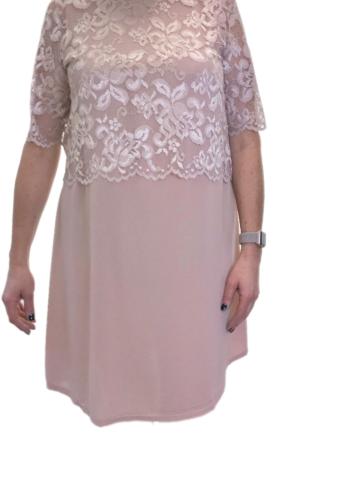 Zoey oudroze jurk met kant 183-4723