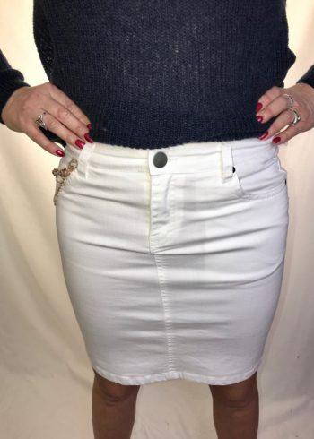 Malvin Witte jeansrok 4875