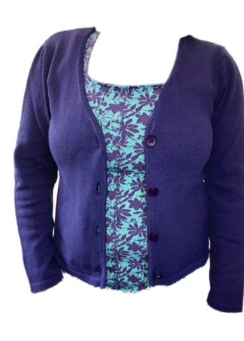 Enolah Cardigan Mochos Purple