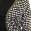 K-Design Cardigan O503 Black , Pied de poule