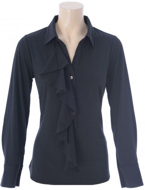 K-Design Blouse met franje O205 Black