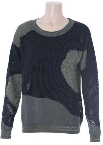 K-Design Pullover met Lurex O500 Khaki