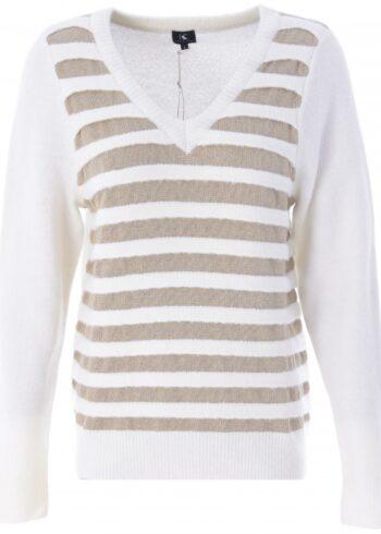 K-Design Pullover met Lurex O504 Ecru