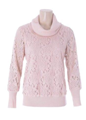 K-Design Pullover met hoge col O605 soft pink