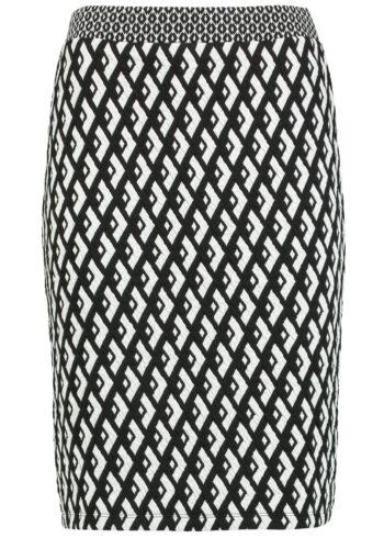 Taifun Skirt 411010 / 16602 Black/white