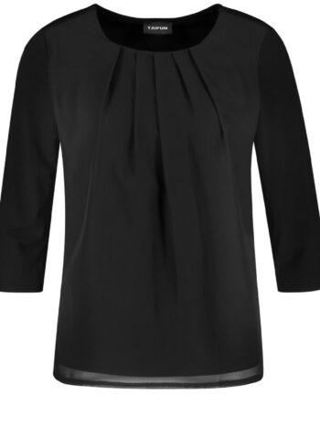 Taifun T-shirt/Blouse 471060 / 19676 Black