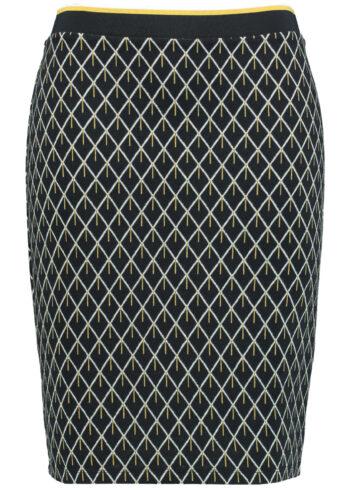 Samoon Skirt 311001 / 26402 Navy Pattern