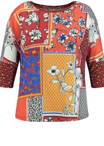 Samoon Blouse 371006 / 26415 Terra patterne