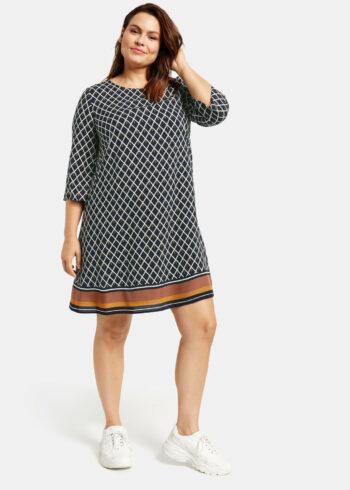 Samoon Dress 380004 / 21323 Navy Pattern