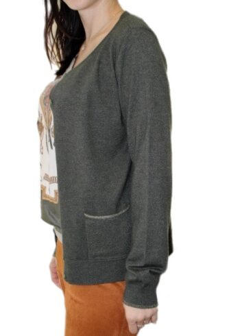 Open End Cardigan 28591 Khaki