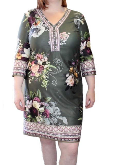 Open End  Dress 89911 Khaki