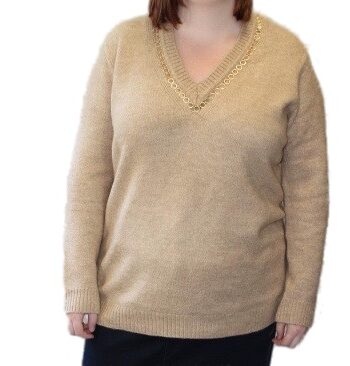 Open End Pullover 24871 Beige