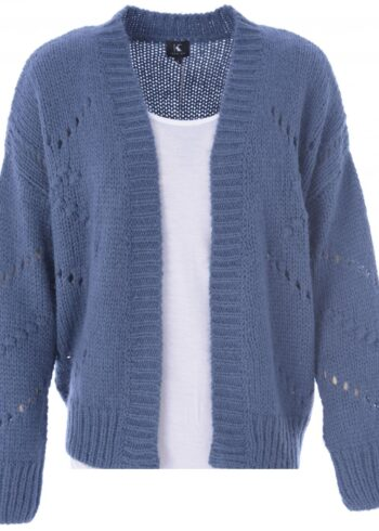 K-Design Cardigan lange mouwen Q504 Ensign Blue