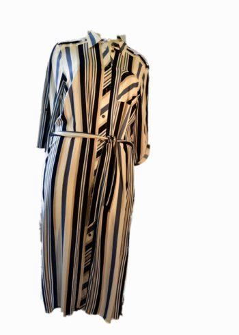 Seeyou Dress D84555-201 Navy / White