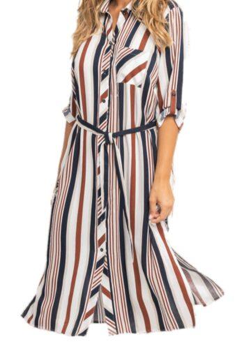 Seeyou Dress D84555-201 Navy / Bruin