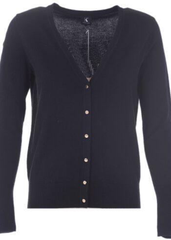 K-Design Cardigan lange mouwen R513 Black