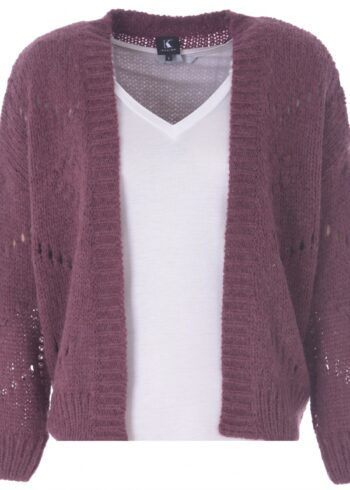 K-Design Cardigan lange mouwen R504 Wine berry