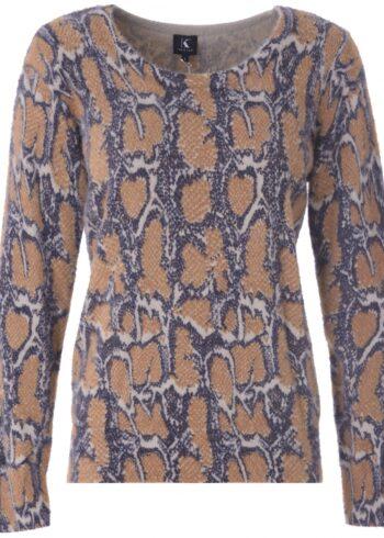 K-Design Pullover R506 camel , ronde hals