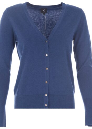 K-Design Cardigan lange mouwen R513 True blue