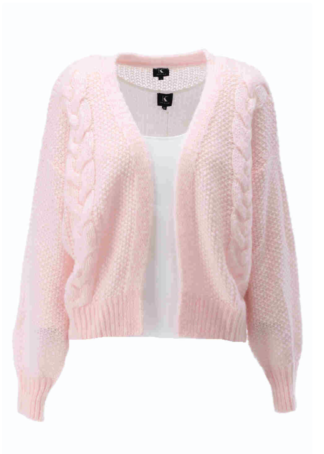 K-Design Cardigan lange mouwen S500 Rose water