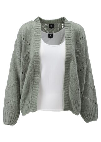 K-Design Cardigan lange mouwen S504 Sea Spray