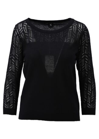 K-Design Pullover S511 Black 2/3 mouwen