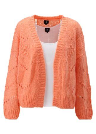 K-Design Cardigan lange mouwen S504 oranje